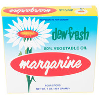 Dew Fresh 1 lb. Margarine Sticks - 30/Case