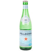 San Pellegrino 500 mL Glass Bottle Sparkling Natural Mineral Water - 24/Case