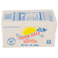 1 Lb. Unsalted Grade AA Butter Solid - 36/Case