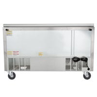 Beverage-Air SPE60HC-24M-STL 60 inch 2 Door Mega Top Glass Lid Refrigerated Sandwich Prep Table