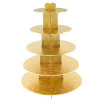 Enjay CS-5T-GOLD 5-Tier Disposable Gold Cupcake Treat Stand - 6/Case