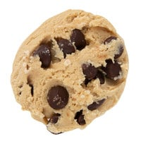 David's Cookies 1.33 oz. Preformed Chocolate Chip Cookie Dough - 240/Case