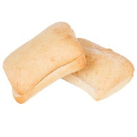 European Bakers 12-Count 4 inch x 6 inch Ciabatta Bun - 8/Case
