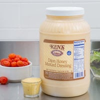 Ken's Foods 1 Gallon Dijon Honey Mustard Dressing - 4/Case