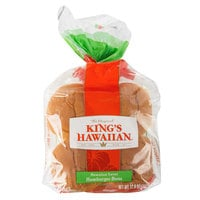 King's Hawaiian 8-Pack Original Hawaiian Sweet Hamburger Bun - 12/Case