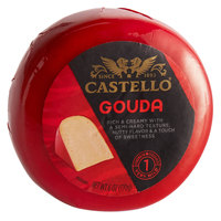 Castello 6 oz. Imported Gouda Cheese Wheel in Red Wax - 12/Case