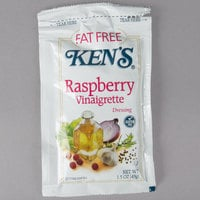 Ken's Foods 1.5 oz. Fat-Free Raspberry Vinaigrette Packet - 60/Case