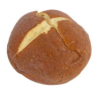 European Bakers 12-Pack 4 inch Sliced Pretzel Hamburger Bun - 6/Case