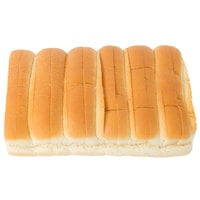 European Bakers 12-Pack 6 inch New England Hotdog Bun - 8/Case