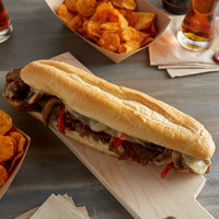 Amoroso's 12 inch Philadelphia Hearth-Baked Sliced Hoagie Rolls - 48/Case
