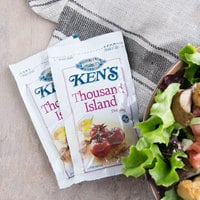 Ken's Foods 1.5 oz. Deluxe Thousand Island Dressing Packet - 60/Case