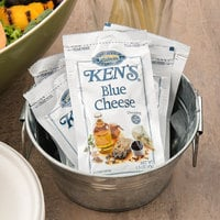 Ken's Foods 1.5 oz. Blue Cheese Dressing Packet - 60/Case