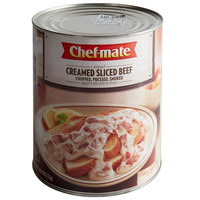Chef-Mate #10 Can Creamed Sliced Beef - 6/Case