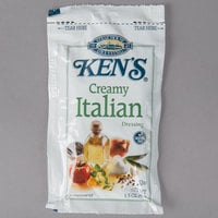 Ken's Foods 1.5 oz. Creamy Italian Dressing Packet - 60/Case