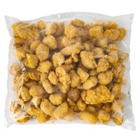 Brakebush Doo-Wa Ditties 5 lb. Bag Fully Cooked Boneless Breaded Chicken Breast Wing Fritters - 2/Case