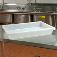 Cambro 18263P148 26 inch x 18 inch x 3 1/2 inch White Poly Food Storage Box