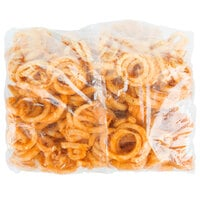 McCain Foods Redstone Canyon 4 lb. Bag of Skin-On Spiral Fries - 6/Case