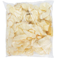 McCain Foods Skin-On Fresh-Style Flat Chips 4 lb. Bag - 6/Case