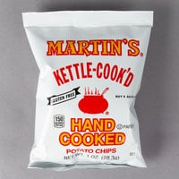 Martin's 1 oz. Bag of Kettle-Cook'd Potato Chips   - 30/Case