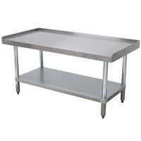 Advance Tabco EG-LG-243 24 inch x 36 inch Stainless Steel Equipment Stand with Galvanized Undershelf