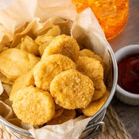 5 lb. Bag Fully Cooked Breaded Chicken Breast Nuggets - 2/Case