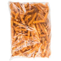 Cavendish Farms Flavor Crisp 3/8 inch Select Spicy Straight Cut French Fries 4.5 lb. Bag - 6/Case