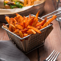 Simplot Sweets 1/4 inch x 1/2 inch Sweet Potato Entree Cut Fries 2.5 lb. Bag - 6/Case