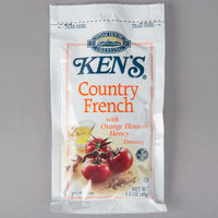 Ken's Foods 1.5 oz. Country French with Orange Honey Blossom Dressing Packet - 60/Case