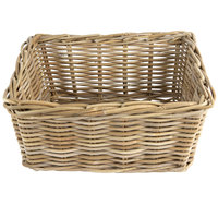 Ash Rectangular Wicker Display Basket - 18 inch x 14 inch x 9 inch
