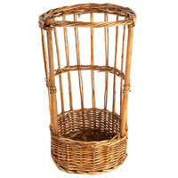 Natural Round Wicker Display Basket - 11 inch x 20 inch
