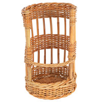 Natural Round Wicker Display Basket - 12 inch x 19 inch