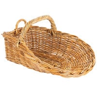 Natural Oblong Wicker Display Basket with Handles - 21 inch x 16 inch x 8 inch