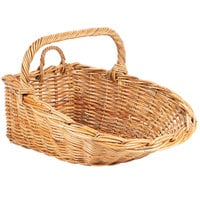 Natural Oblong Wicker Display Basket with Handles - 24 inch x 18 inch x 9 inch