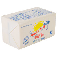 1 Lb. Unsalted Grade AA Butter Solid