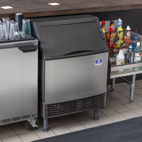 Manitowoc UYF0190A NEO 26 inch Air Cooled Undercounter Half Dice Cube Ice Machine with 90 lb. Bin - 115V, 193 lb.
