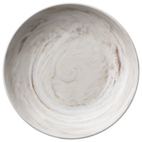 Oneida L6200000753 Marble 48 oz. Porcelain Coupe Low Bowl / Deep Plate - 12/Case