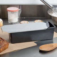 Matfer Bourgeat 345834 Exoglass 1 LB Non-Stick Pullman Bread Loaf Pan with Lid - 9 3/4 inch x 3 inch x 3 1/2 inch