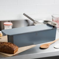 Matfer Bourgeat 341641 Exopan Steel Non-Stick Long Pullman Bread Loaf Pan with Lid - 15 3/4 inch x 4 inch x 4 inch