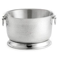 Tablecraft BTB2111 Round Double Wall Stainless Steel Beverage Tub with Base - 21 inch x 11 inch