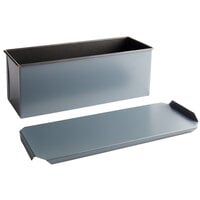 Matfer Bourgeat 341643 Exopan Steel Non-Stick Long Pullman Bread Loaf Pan with Lid - 15 3/4 inch x 5 1/2 inch x 5 1/2 inch