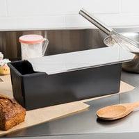 Matfer Bourgeat 345836 Exoglass 2 LBS Non-Stick Pullman Bread Loaf Pan with Lid - 11 1/4 inch x 4 inch x 4 1/4 inch