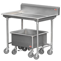 Steril-Sil LSS-44-BS Mobile Sorting Station with Backsplash and Soak Sink