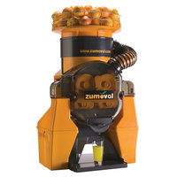 Zumoval Heavy-Duty Compact Automatic Feed Orange Juice Machine with Self Cleaning Feature - 28 Oranges / Minute