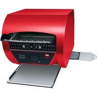 Hatco TQ3-2000 Toast Qwik Red Conveyor Toaster with 2 inch Opening and Digital Controls - 208V, 4020W