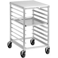 Channel 425AP 9 Pan Aluminum End Load Half Height Sheet / Bun Pan Rack with PolyTop Work Surface - Assembled