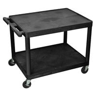 Luxor LP27-B Heavy-Duty 2 Shelf A/V Cart - 32 inch x 24 inch x 27 inch