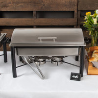Choice 8 Qt. Wrought Iron Pillar Chafer Kit with Roll Top Lid