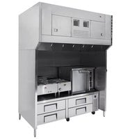 Wells WVU-72 Universal 72 inch Ventless Hood System for Multiple Appliances - 208/240V