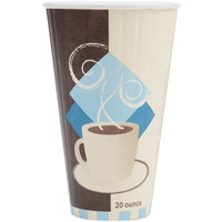 Solo IC20-J7534 Duo Shield 20 oz. Poly Paper Hot Cup - 350/Case