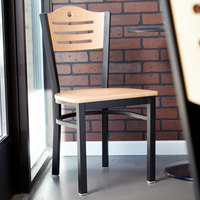 Lancaster Table & Seating Natural Finish Bistro Dining Chair - Detached Seat
